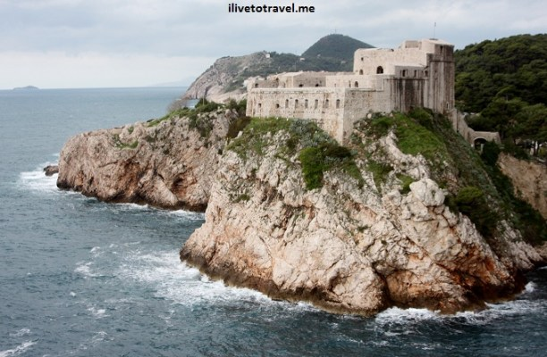 View of Fortress St. Lawrence in Dubrovnik. Croatia