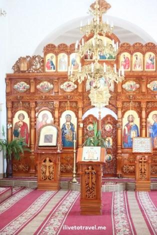 Frumoasa Monastery altar in Moldova