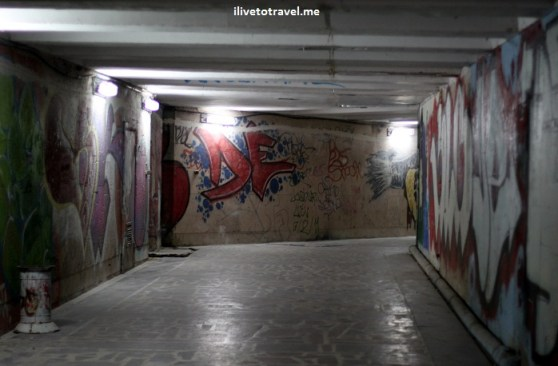 Underground tunnel in Chisinau, Moldova