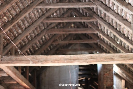Old roof in a house in Romania