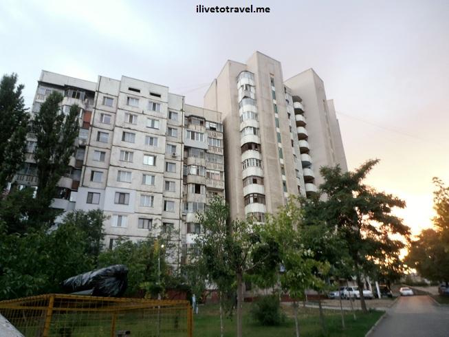 Apartment blocs in Chisinau. Moldova