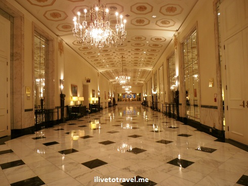 Lobby area of the Mayflower Hotel in Washington, D.C.