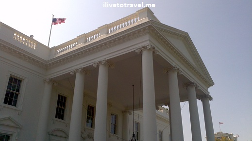 North portico of the White House added in 1829