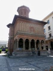 Cretulescu Basilica front in Bucharest, Romania