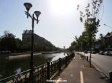 Dambovita river as it crosses Bucharest