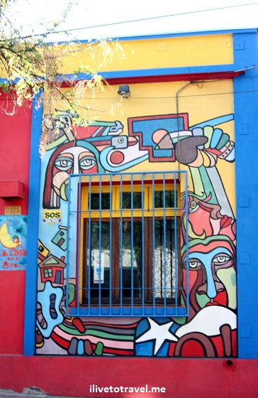 Mural in Barrio Bellavista in Santiago, Chile