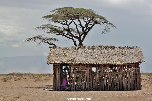 School building at a Masai village in Tanzania