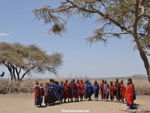 Masai welcome at their village in Tanzania