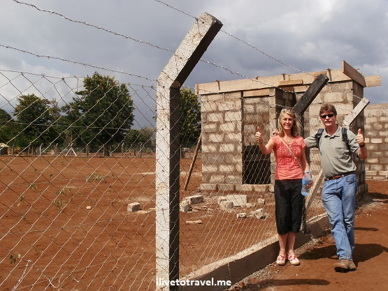 New fence on the Kili Centre's future home