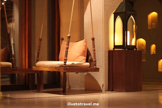 Lobby of the Evason Ma'in Six Senses hotel in Jordan