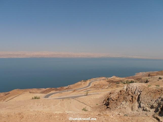 Blue sky and Dead Sea