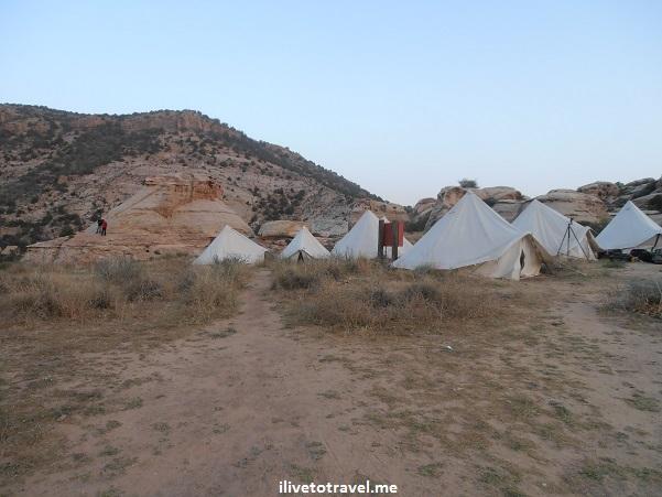 tents, Rummana camp, Jordan, Dana Biosphere Reserve