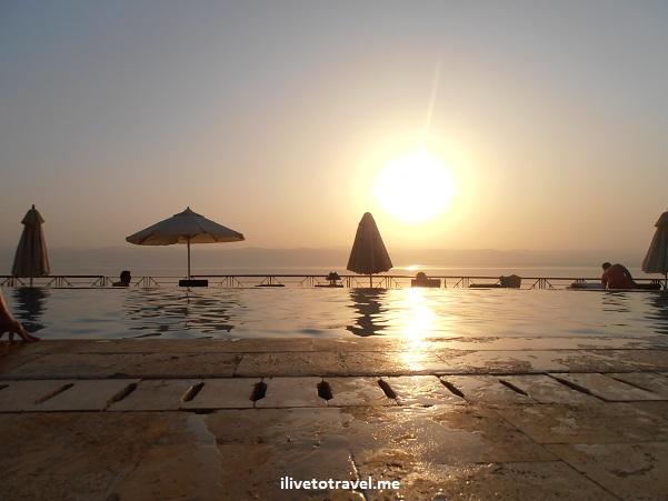 Sunset Dead Sea pool Movenpick resort Jordan amazing awesome infinity Olympus photo