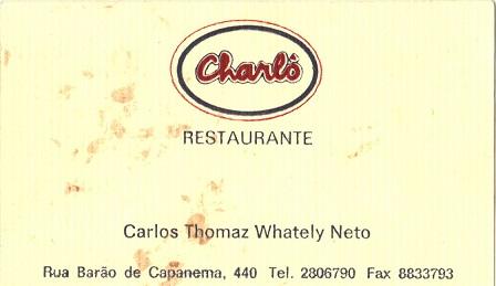 Charlo Restaurant food Sao Paulo, Brazil