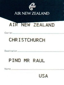 Boarding pass, Air New Zealand, Christchurch, NZ, travel, flight, airline