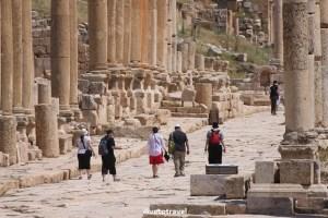 Cardo Maximus Roman Ruins Colonnade Columns history Jerash Jordan Canon EOS Rebel