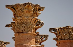 Columns, temple, artemis, jerash, jordan, history, roman ruins, travel, photo