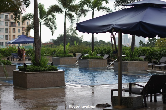 Manila, Philippines, Marriott, outdoor area, relaxation, comfort, hotel, lodging, travel, Olympus, pool