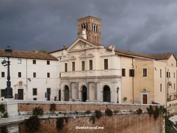 San Bartolomeo, St. Bartholomew, Tiber Island, Rome, Italy, Roma, basilica, church, ponte cestio, ponte cistio, photo, travel, Olympus, religion