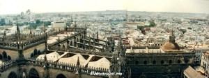 Sevilla, Spain, Sevilla, La Giralda, Cathedral of Seville, view, vista, photo, Canon EOS Rebel