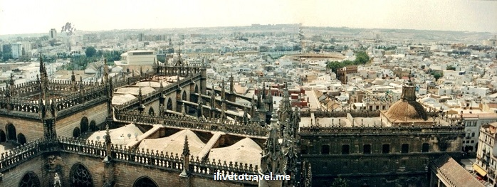 Sevilla, Spain, Sevilla, La Giralda, Cathedral of Seville, view, vista, photo, Canon EOS Rebel