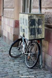 bicycle, mailbox, Stockholm, Sweden, summer, street scene, travel, photo, Canon EOS Rebel