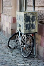 bicycle, mailbox, Stockholm, Sweden, summer, street scene, travel, photo, Canon EOS Rebel