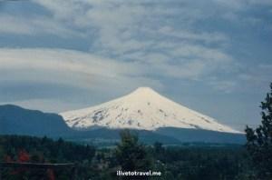 Villarica volcano, Chile, snow, ski