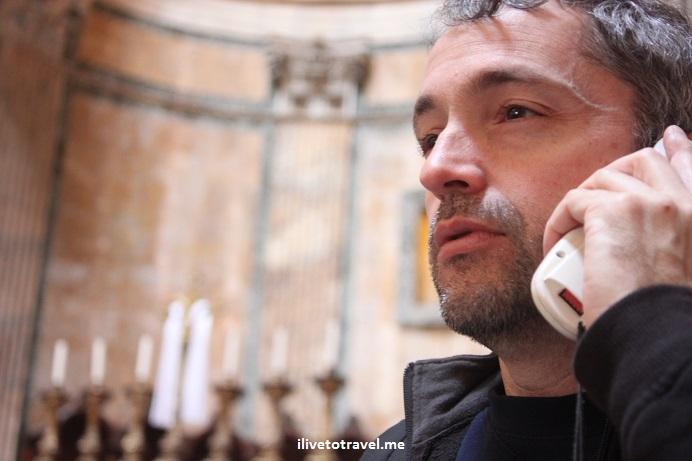 Tourist, Pantheon, Rome, Italy, Canon EOS Rebel, photo, travel