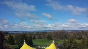 Grand Traverse Resort, Traverse City, Michigan, view, vista, hotel, travel, photo, blue sky, East Grand Traverse Bay