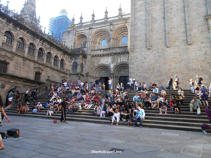 Plaza de Platerias, south facade, Santiago de Compostela, Galicia, Spain, World Heritage Site, travel, photo, architecture, Olympus