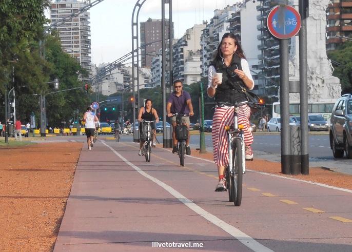 Libertador, Argentina, Buenos Aires, bike path, jogging trail, Olympus, photo, travel