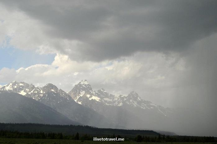 Grand Teton National Park, Wyoming, Grand Tetons, outdoor, nature, mountain, travel, hiking, rain, storm