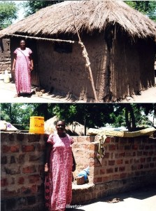 Tanzania, Mwanza, woman, mud house, CARE, economic livelihood