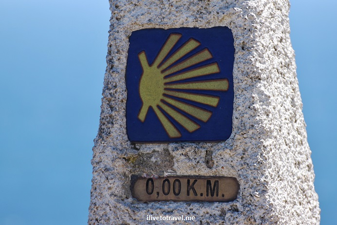 Camino, Way, Santiago, Compostela, pilgrimage, travel, mile marker