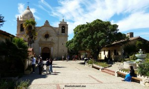 Junipero Serra, Carmel Mission, California, tomb, saint, history, faith, church, travel, photo, Samsung Galaxy, blue, sky, clouds