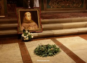 Fr. Serra is buried along with others in the altar area