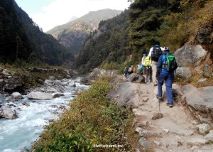 Loved walking this close to the Dudh Koshi River