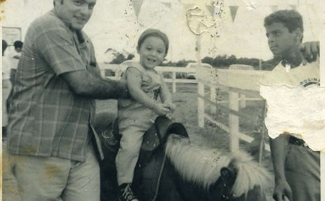 father, kid, horse