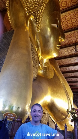 Bangkok, Thailand, temple, reclining Buddha, ilivetotravel, travel, adventure, explore