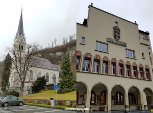 Church and Vaduz City Hall (on the right)