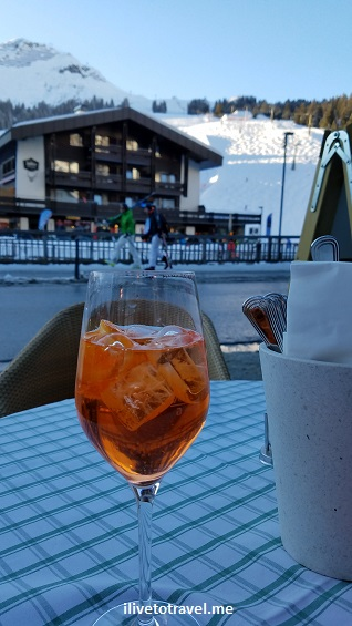 Aperol, spritz, skiing, Lech, Austria, cocktail, refreshment, refreshing, apres-ski, enjoy, good life
