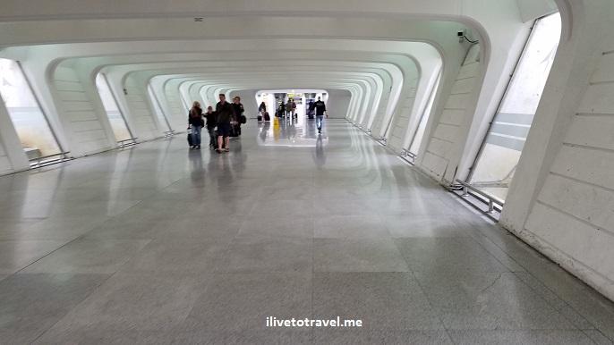 Bilbao, airport, tunnel, modern, white, travel, Spain, photo