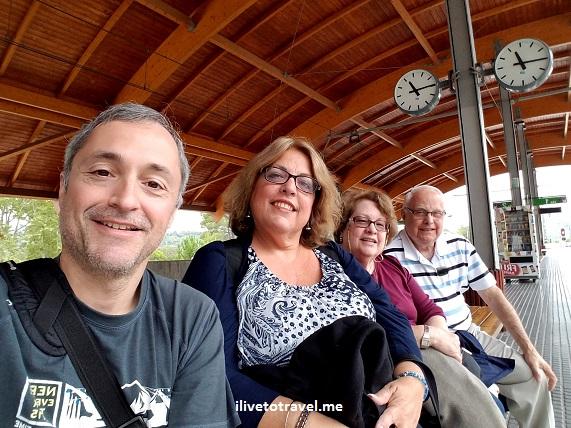 Montserrat, train, Spain, travelers, photo