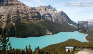 Free Desktop Wallpaper – Peyto Lake, Banff National Park