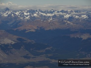 Flight from Balmaceda to Punta Arenas in southern Chile