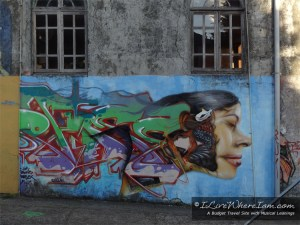 Graffiti Art Mural in Ancud, Chile on the Island of Chiloe