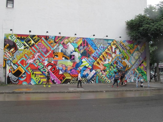 Three street artists known as Revok, Reyes and Steel brought an action against Roberto Cavalli for appropriating this mural a clothing line