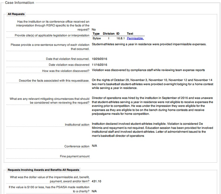 Illini ReportHotel Policy  the NCAA - Illini Report - ncaa home office