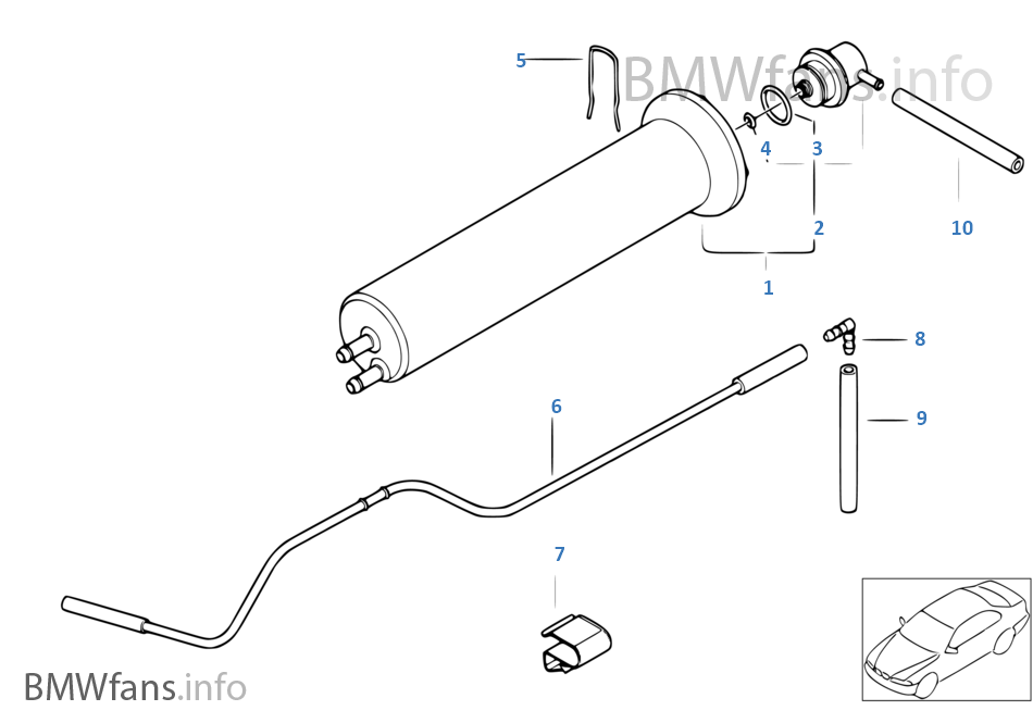 2001 bmw x5 4.4 fuel filter